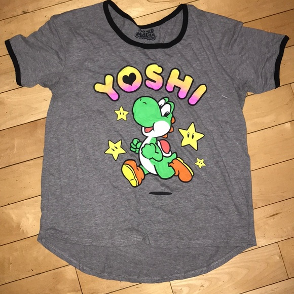 46e525fcd Nintendo Tops | Super Mario Yoshi Tee Juniors Large | Poshmark